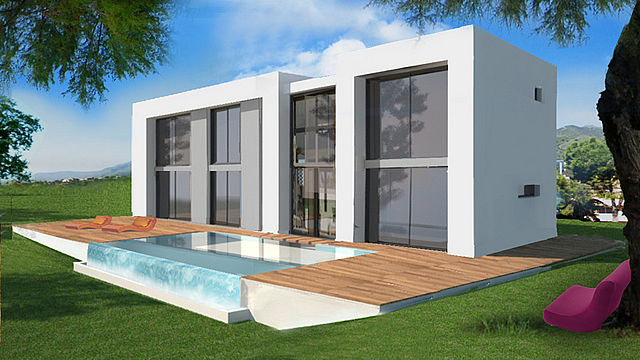 new built contemporary villa in Marbella Elviria